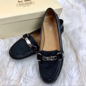 Coach Felica Black loafer shoe Sz 8